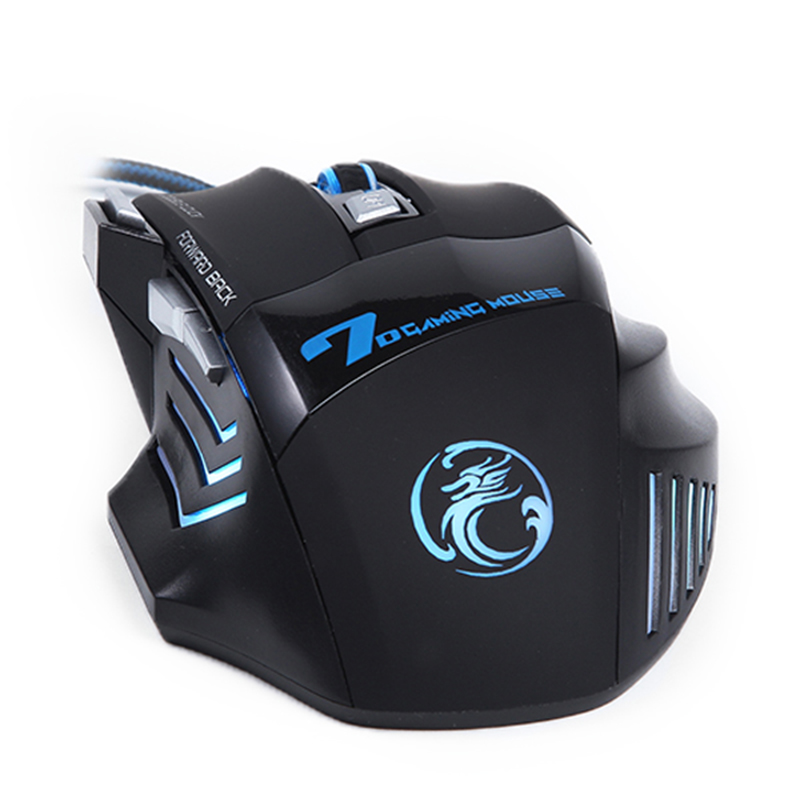 Wired Gaming Mouse with Adjustable 7 Buttons Cable USB LED Optical Gamer Mouse